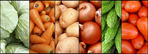 ee0725c90 Pumpkin Red, Bitter Gourd, Beans,Green , Cabbage, Cauliflower, Onion,  Potato, Radish White, Beetroot, Carrots, Chilli Green, Apple Red, Banana,  Pineapple,